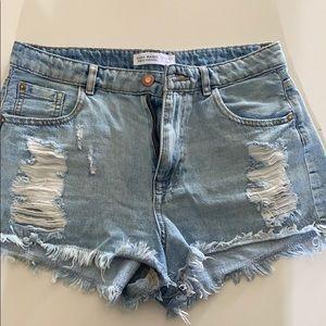 Zara Denim Cutoff Shorts